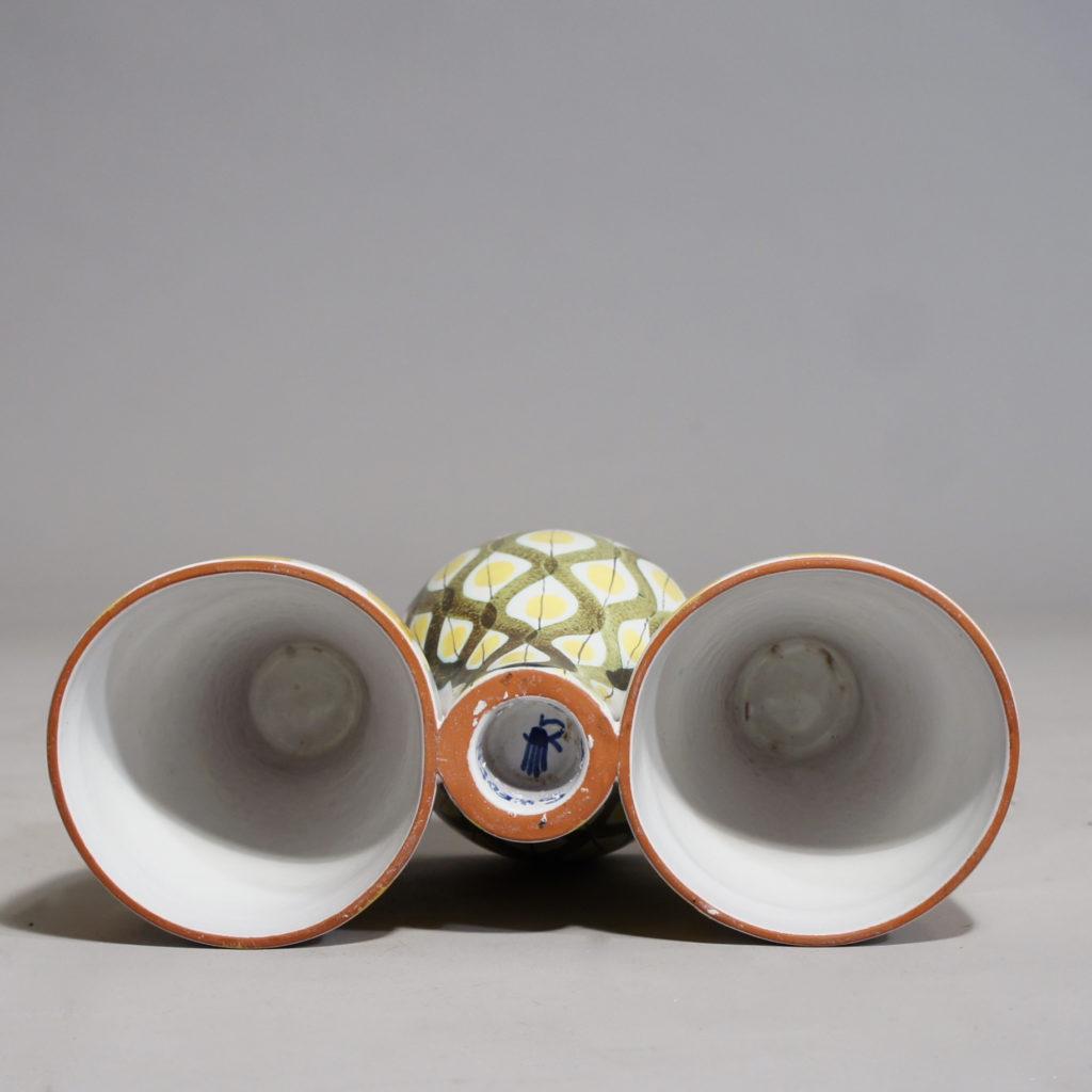 """Stig Lindberg for Gustavsberg, Sweden. Vase/candle holder in faience. """"Snurran"""". 20x12 cm."""