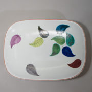 Stig Lindberg for Gustavsberg,Sweden. Faience dish with decoration. 29x17 cm.