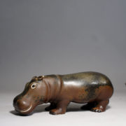 . Gunnar Nylund for Rörstrand, Sweden. Hippo in stoneware with matte glaze. Lenght 29 cm.