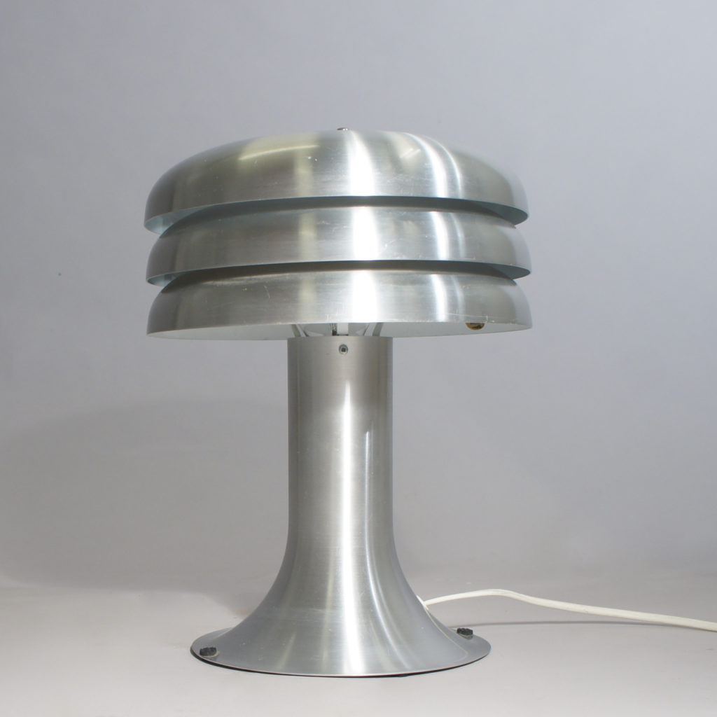 Desk lamp in aluminium. Maker Hans-Agne Jakobsson. Height 30 cm.