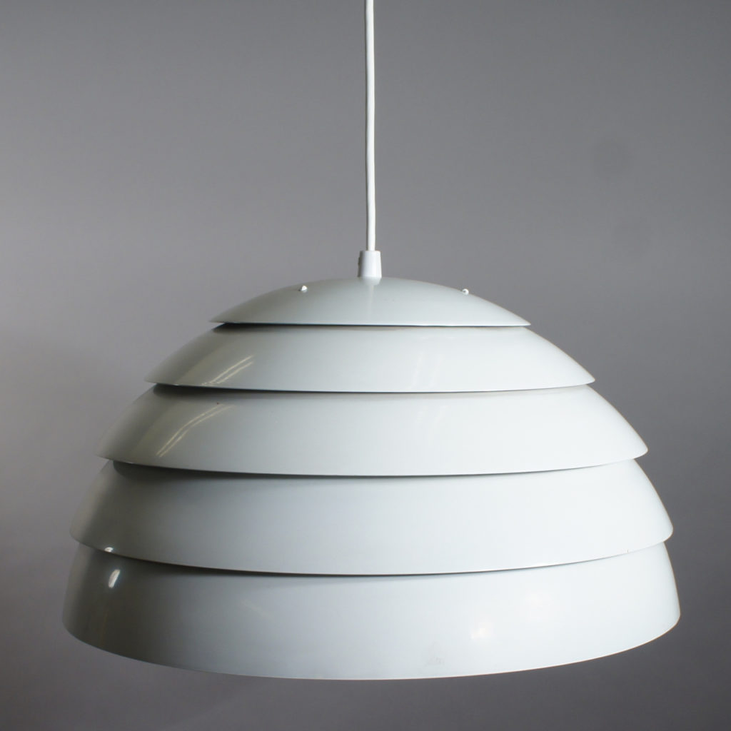 Hans-Agne Jakobsson, Sweden. Ceiling lamp with layers of metal shades. Diam 45, height 25 cm.