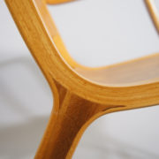 "Peter Hvidt & Orla Mølgaard for Fritz Hansen 1947. ""Ax Chair"". A pair of easy chairs in beech and teak. H 76 W 62 D 71 SH 38"