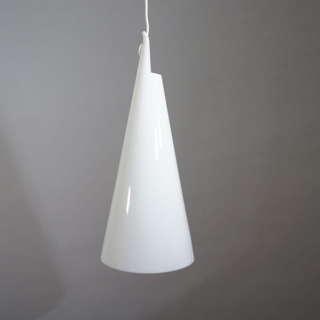 "Hans Bergström for Ateljé Lyktan. ""Struten"". Celing lamp in acrylic. Height 50 cm."