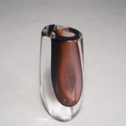 Signed glass vase by Vicke Lindstrand for kosta, Sweden.