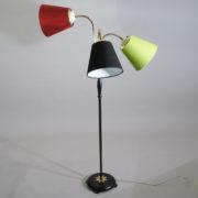 Floor lamp with three lamps. Sweden 1950's