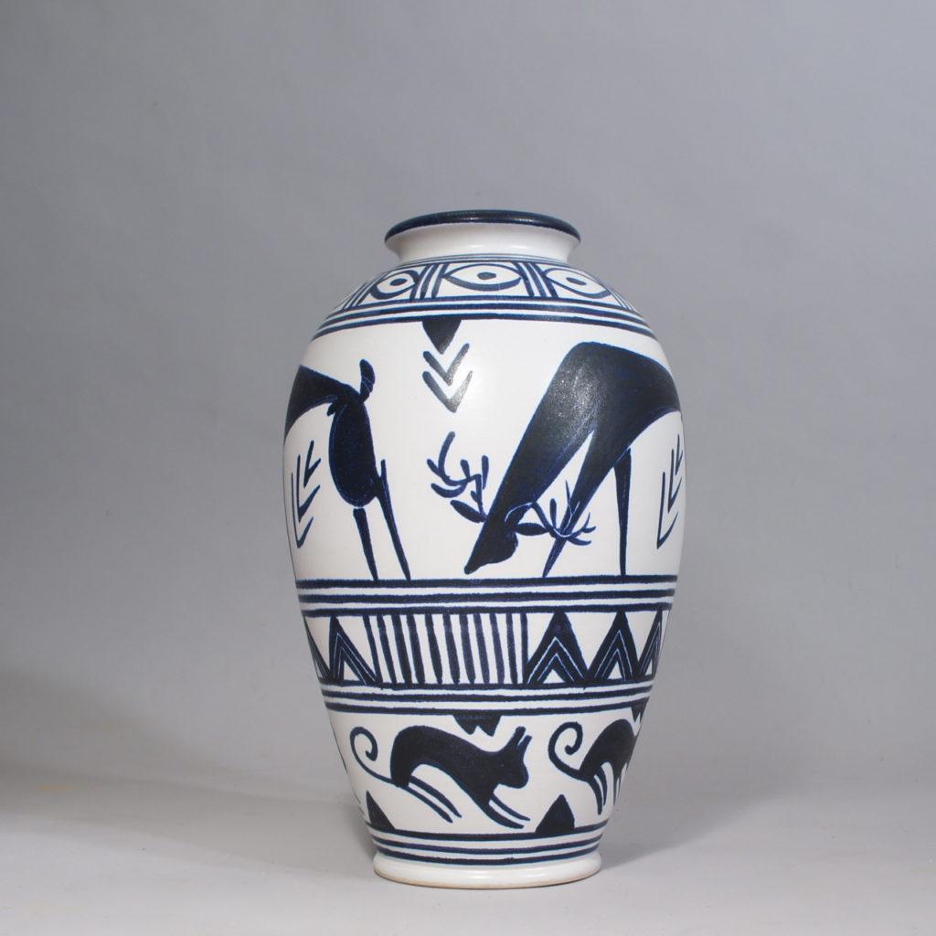 Andersson&Johansson, Höganäs. Large ceramic floor vase. 1950s.