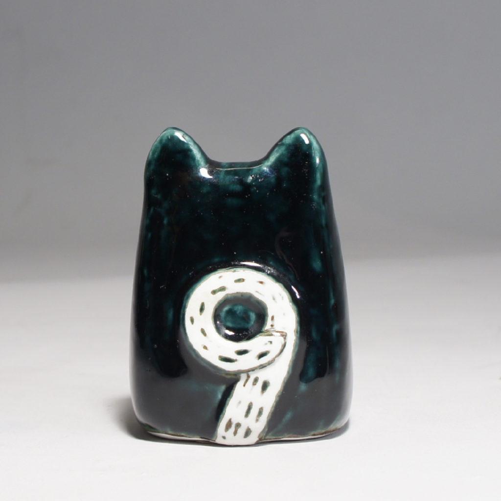 """Lisa Larson for Gustavsberg, Sweden. """"Liten katt"""" or """"Mars-Liv"""" 1965. Rare color of this cat."""