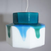 Ceiling lamp in glass by Helena Tynell for Flygsfors, Sweden.