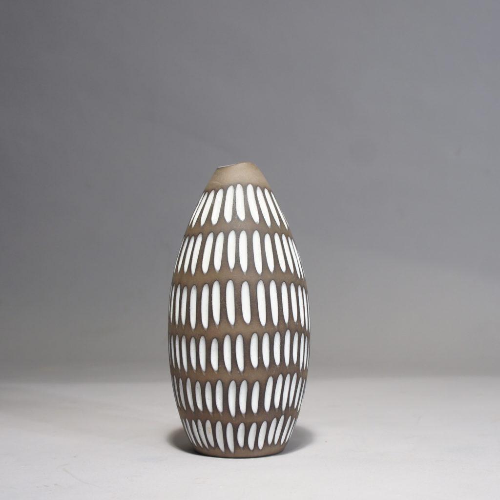 "Ceramic vase by Ingrid Atterberg for Upsala-Ekeby ""Negro"""
