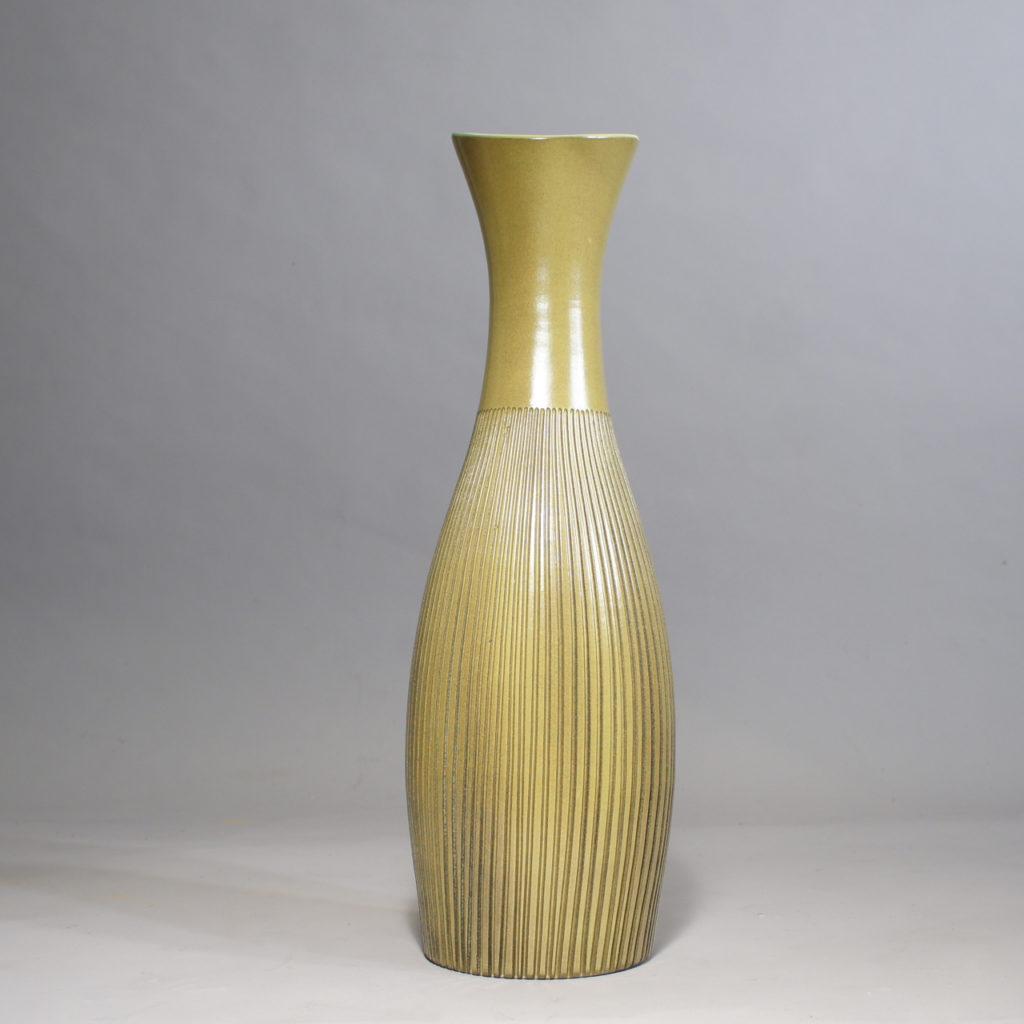 """Hjördis Oldfors for Upsala-Ekeby. """"Palma"""". Ceramic floor vase. 1950's."""