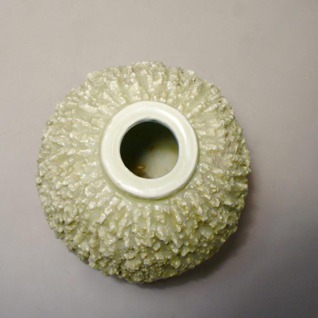 Gunnar Nylund for Rörstrand, Sweden. Signed vase i chamotte ceramic.