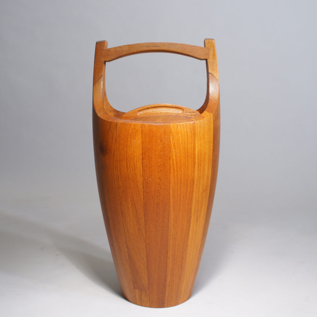 Wine cooler in solid teak by Jens Quistgaard.