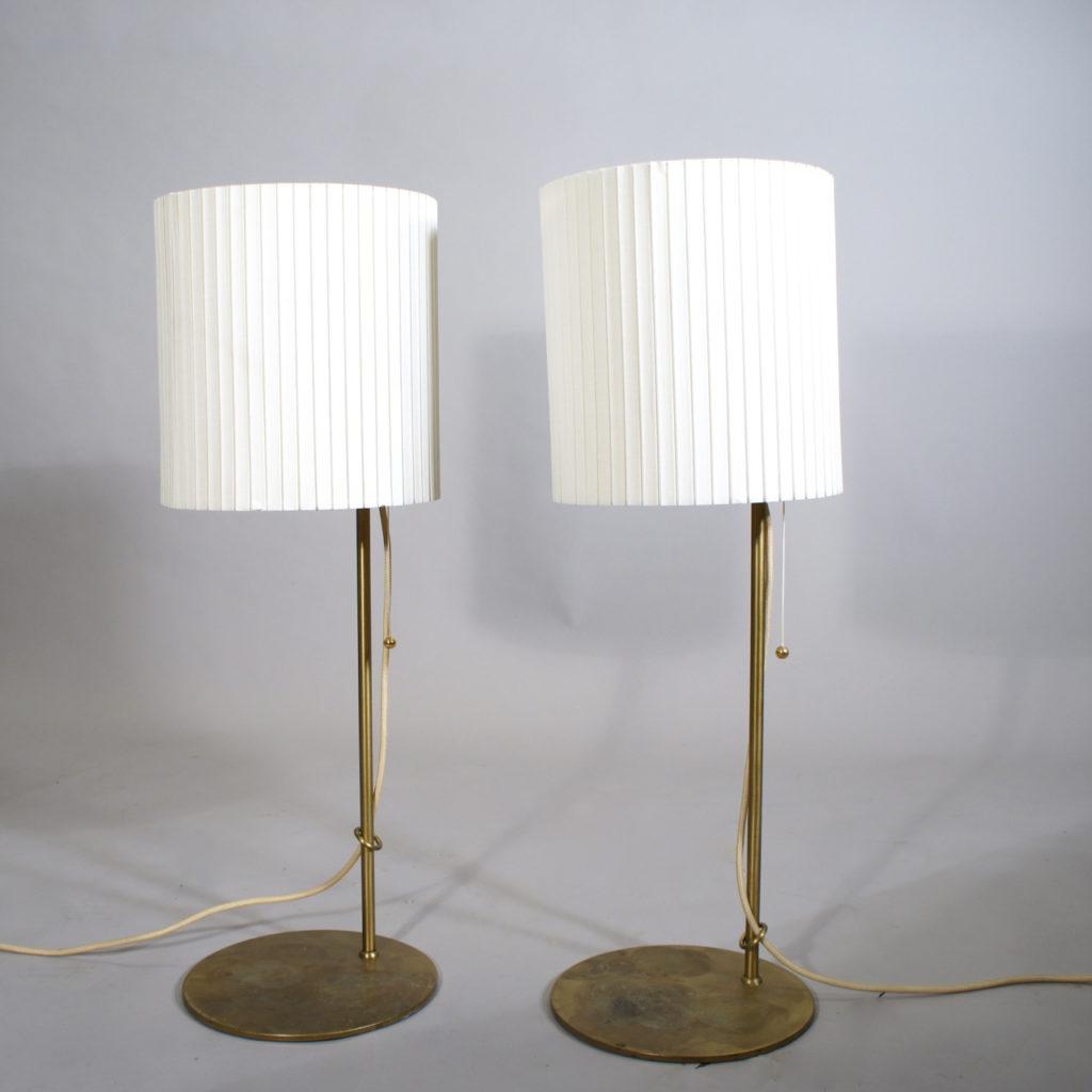 AA pair of desk lamps in brass. Belid.