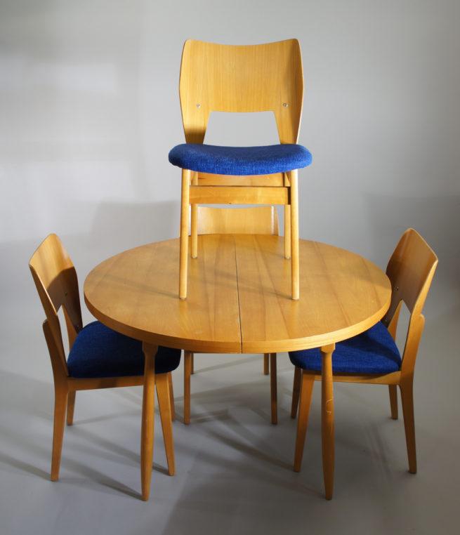 Olavi Lieto for Asko Finland. Dining set in birch. Wigerdals Värld