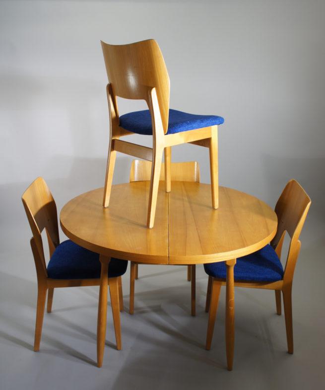 Olavi Lieto for Asko Finland. Dining set in birch - Sold Wigerdals Värld