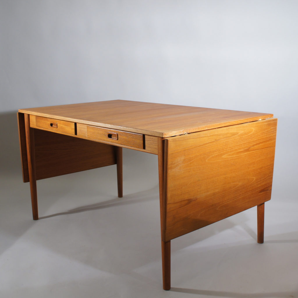 Working Dining Drop Leaf Table In Teak Troeds Sold